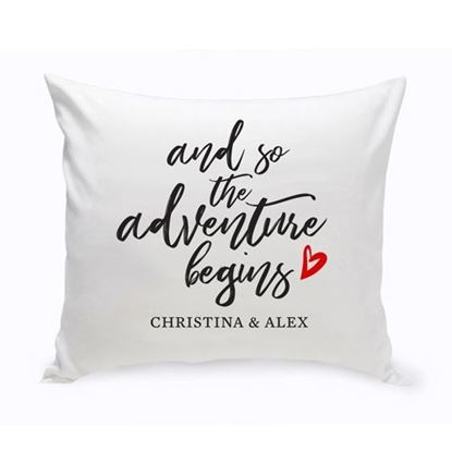 Personalized Adventure Begins 16x16 Throw Pillow