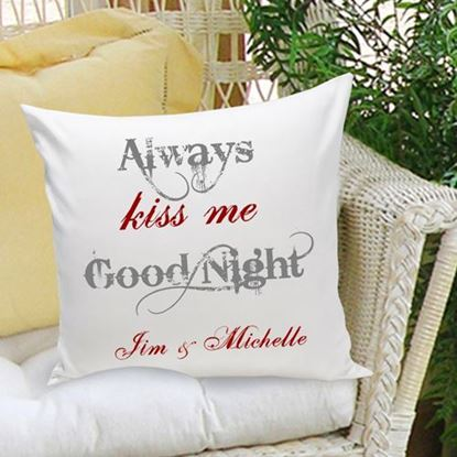 Personalized Good Night 16x16 Throw Pillow