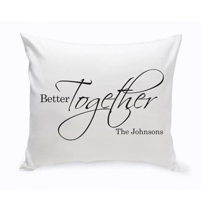 Personalized Better Together 16x16 Throw Pillow