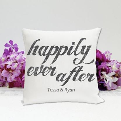 Personalized Happily Ever After 16x16 Throw Pillow