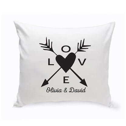 Personalized LOVE 16x16 Throw Pillow