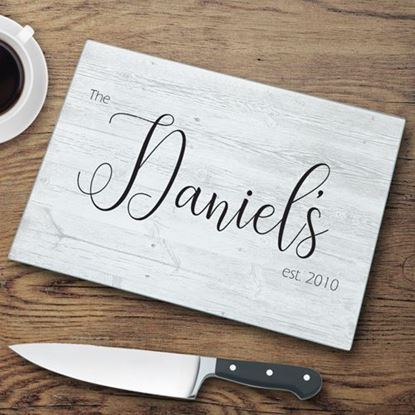 Personalized Last Name Glass Cutting Board