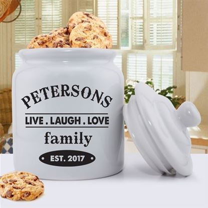 Personalized Live, Laugh, Love Cookie Jar