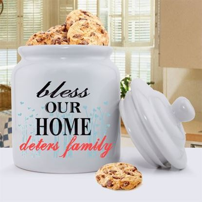 Personalized Bless Our Home Cookie Jar