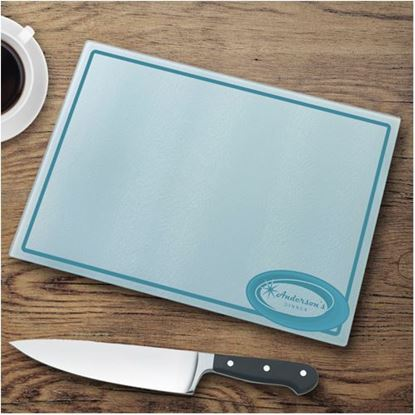 Personalized Retro Style Glass Cutting Board