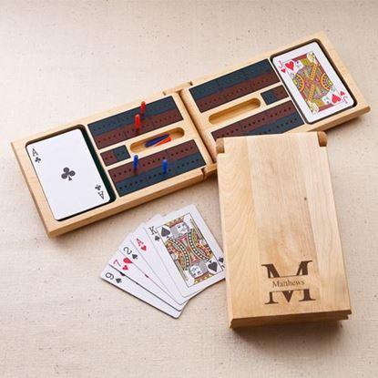 Personalized Stamped Style Cribbage Game