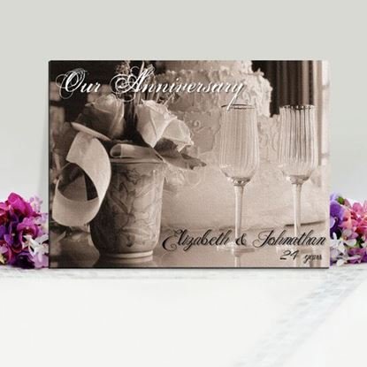 "Personalized 18""x24"" Anniversary Canvas"