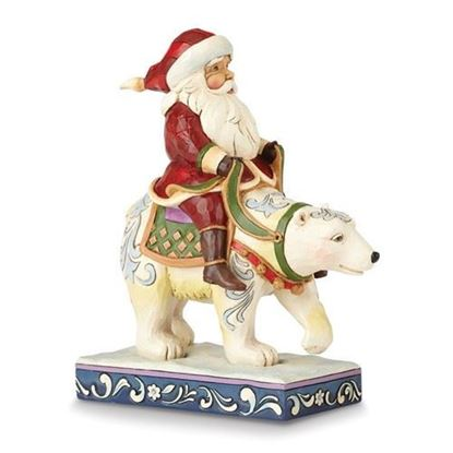 Jim Shore Heartwood Creek Santa Riding Polar Bear Figurine