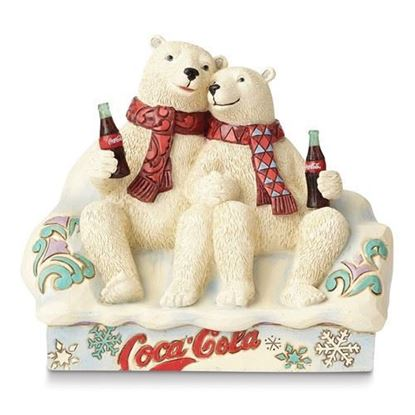 Jim Shore Coca Cola Polar Bear Couple Figurine