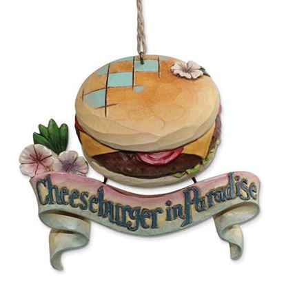Jim Shore Margaritaville Cheeseburger In Paradise Ornament