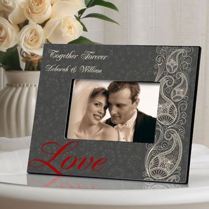 Personalized Paisley Wedding Day Picture Frame