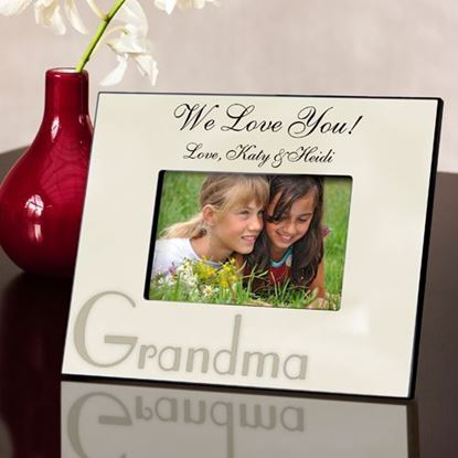 Personalized Grandma Parchment Picture Frame