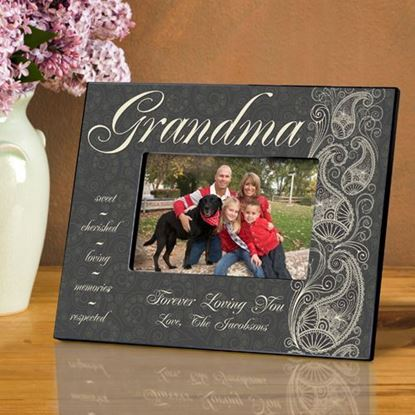 Personalized Paisley Grandma Picture Frame