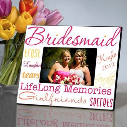 Personalized Bold and Bright Bridesmaid Frame