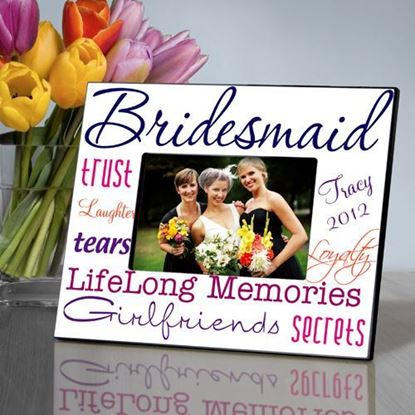 Personalized Bridesmaid Purple Themed Frame