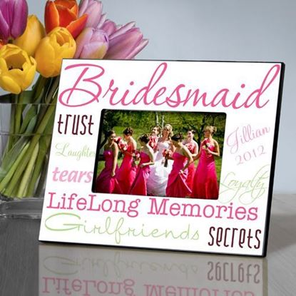 Personalized Bridesmaid Pink Themed Picture Frame