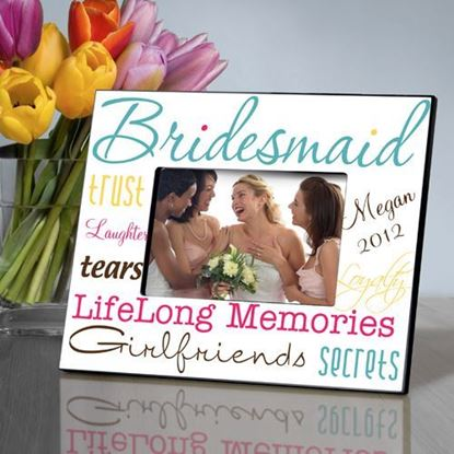 Personalized Bridesmaid Classic Tones Picture Frame