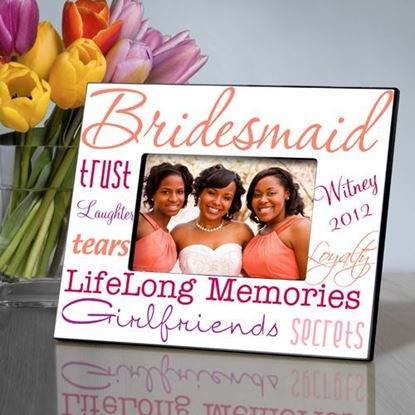 Personalized Bridesmaid Peach Themed Picture Frame