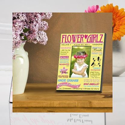 Personalized Flower Girl Magazine Frame