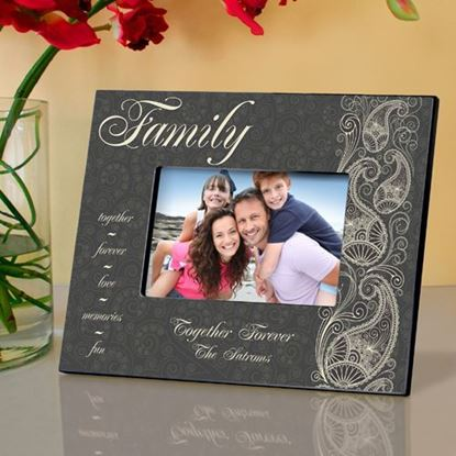 Personalized Paisley Family Picture Frame