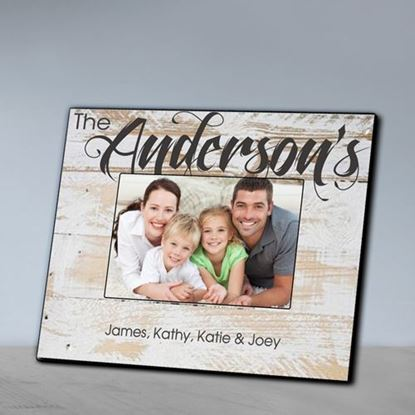Personalized Family Whitewash Picture Frame