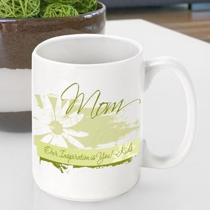 Personalized Mother's Day Delicate Daisy Coffee Mug