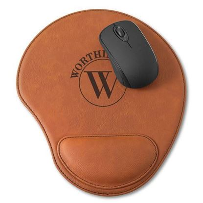 Personalized Circle Design Rawhide Mouse Pad