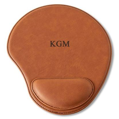 Personalized Initials Design Rawhide Mouse Pad