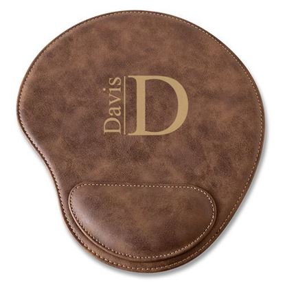 Personalized Modern Design Rustic Faux Leather Mouse Pad