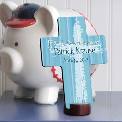 Personalized Light of God First Communion Cross
