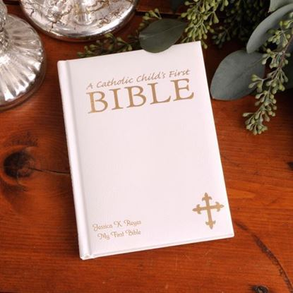 Personalized Laser Engraved Catholic Child's First Bible