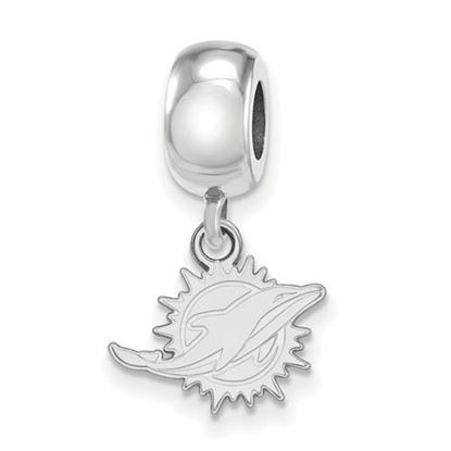 Picture of Miami Dolphins Sterling Silver Dangle Charm Bead