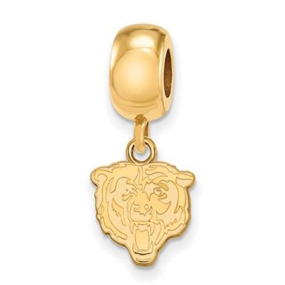Picture of Chicago Bears Sterling Silver Gold Plated Dangle Charm Bead