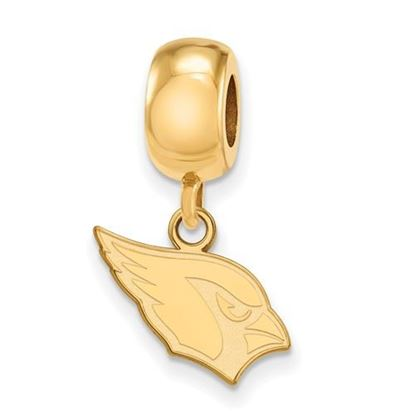 Picture of Arizona Cardinals Sterling Silver Gold Plated Dangle Charm Bead