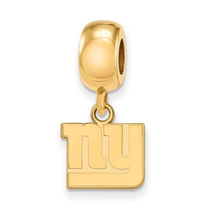 Picture of New York Giants Sterling Silver Gold Plated Dangle Charm Bead