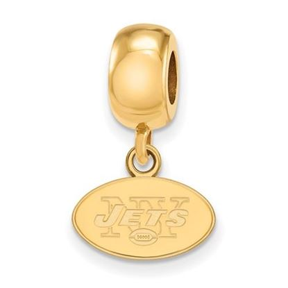 Picture of New York Jets Sterling Silver Gold Plated Dangle Charm Bead