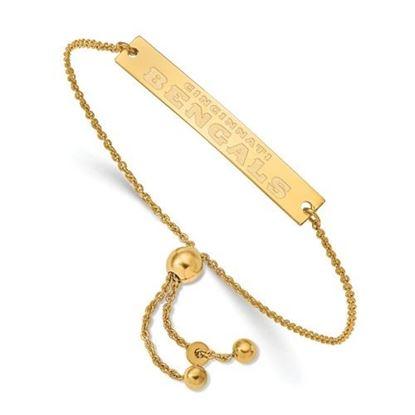 Picture of Cincinnati Bengals Sterling Silver Small Bar Adjustable Bracelet