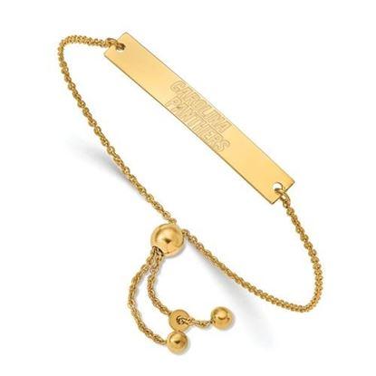 Picture of Carolina Panthers Sterling Silver Small Bar Adjustable Bracelet