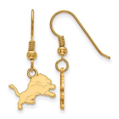 Picture of Detroit Lions Sterling Silver Gold Plated Wire Dangle Earrings