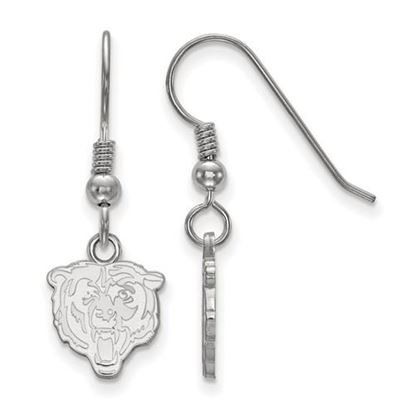 Picture of Chicago Bears Sterling Silver Wire Dangle Earrings