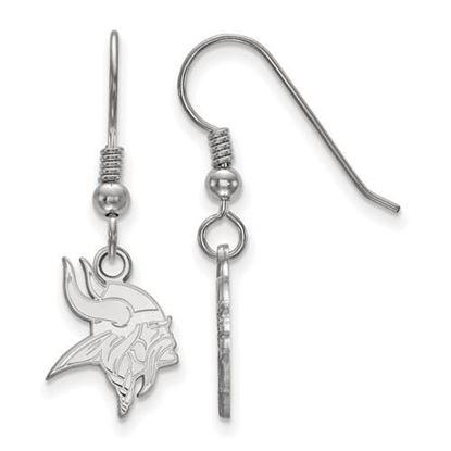 Picture of Minnesota Vikings Sterling Silver Wire Dangle Earrings