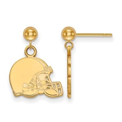 Picture of Cleveland Browns Sterling Silver Gold Plated Dangle Earrings
