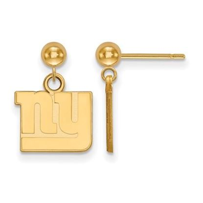 Picture of New York Giants Sterling Silver Gold Plated Dangle Earrings