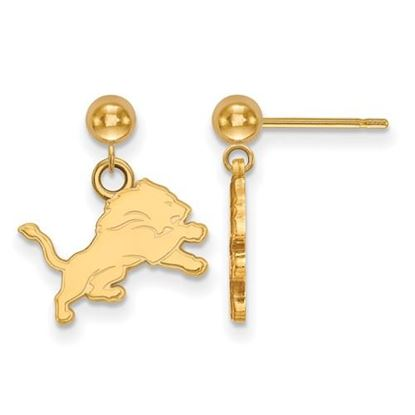 Picture of Detroit Lions Sterling Silver Gold Plated Dangle Earrings