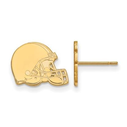 Picture of Cleveland Browns Sterling Silver Gold Plated Post Earrings
