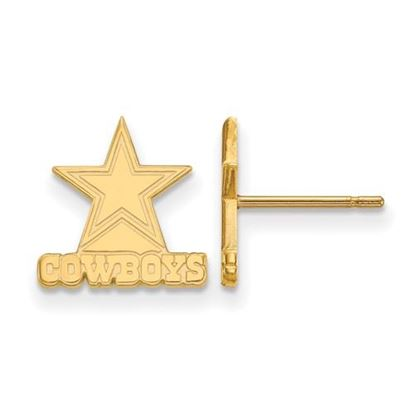 Picture of Dallas Cowboys Sterling Silver Gold Plated Post Earrings