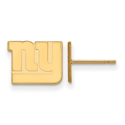 Picture of New York Giants Sterling Silver Gold Plated Post Earrings