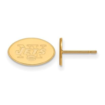 Picture of New York Jets Sterling Silver Gold Plated Post Earrings
