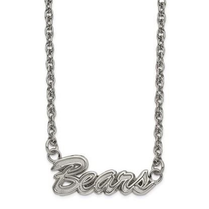 Picture of Chicago Bears Stainless Steel Script Necklace