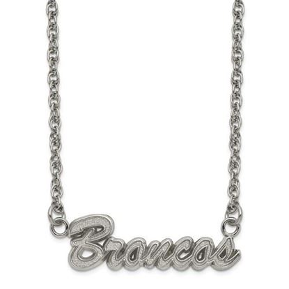 Picture of Denver Broncos Stainless Steel Script Necklace